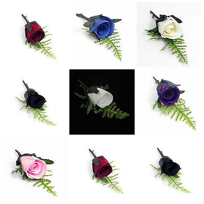 Artificial Romance Bridal Button Hole Corsage Complete With Lapel Pin Colours ML