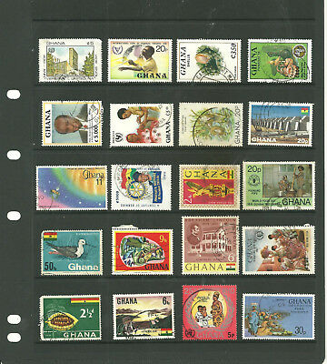 Commonwealth Ghana/Gold coast  Africa   one stock sheet mix collection stamps