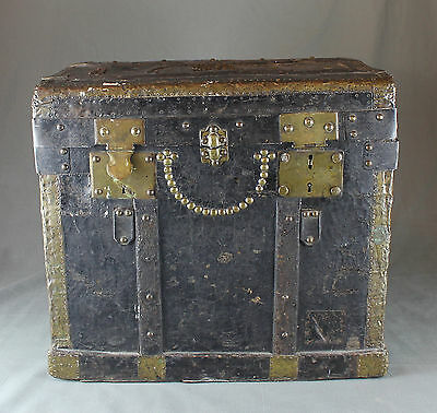 18th Century French Leather Travelling Trunk