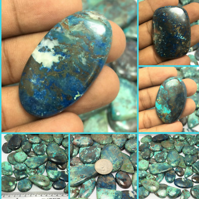 Natural Beautiful Azurite Amazing Cabochon Gemstone Lot in Wholesale Price