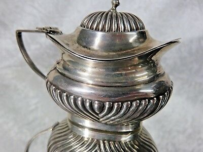 Antique 1912  Sterling Silver Mustard Pot W/Original Liner - English