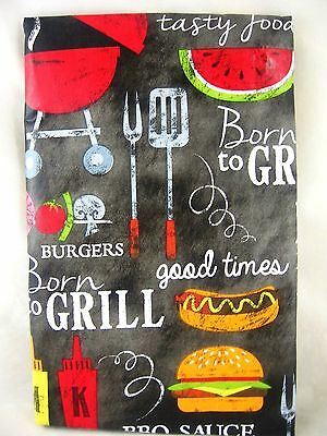 60 round family cookout picnic bbq grill vinyl tablecloth free ship