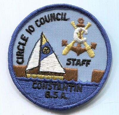 BSA Circle 10 Council Camp Constantin STAFF scout patch - undated - blue