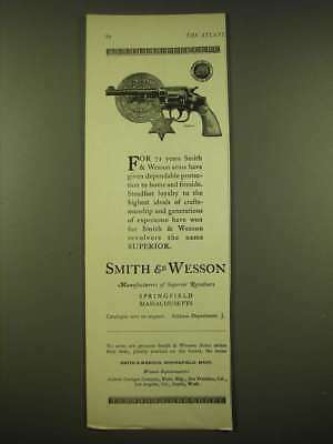1924 Smith & Wesson Revolver Ad - city of Indianapolis Police Badge