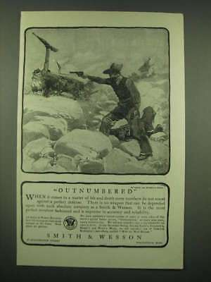 1902 Smith & Wesson Revolver Ad - Dan Smith's Outnumbered art