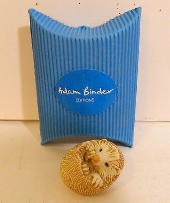 Adam Binder - Charm, Nesuke Or Pendent - Hedgehog - New In Box - Retired