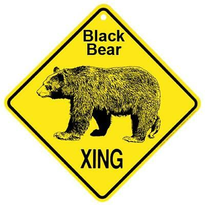 Black Bear Crossing Xing Sign New