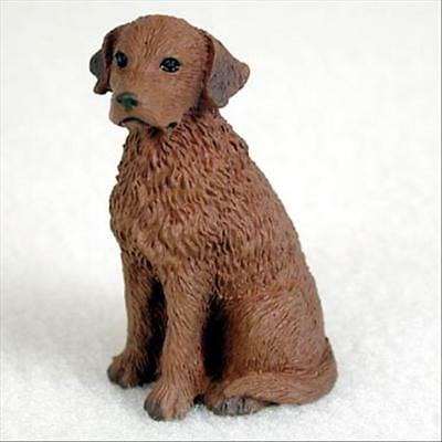 Chesapeake Bay Retriever Dog Tiny One Miniature Small Hand Painted Figurine