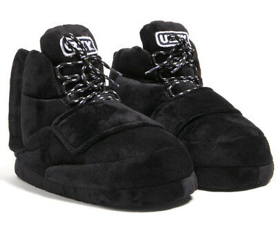 Uzzy Main Stage Sneaker Slippers Plush Unisex Black