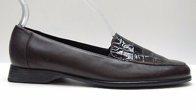 33f42de8142 Women s Trotters Brown Leather Wedge Loafers Pumps Heels 8s 8 Slim 8 Narrow   134