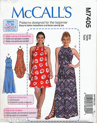 Mccall's Sewing Pattern 7405 Misses 4-14 Sleeveless Loose-Fitting Dress & Maxi