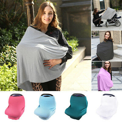 Multi-Use Stretchy Newborn Infant Nursing Cover Baby Car Seat Canopy Cart Covers