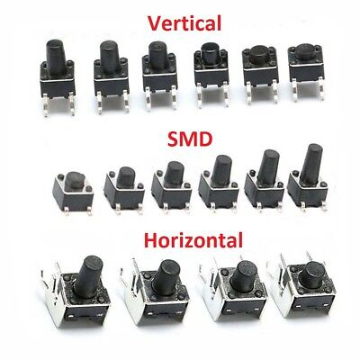 Momentary Tactile Push Button Switch Vertical/SMD/Horizontal Micro PCB Mounted