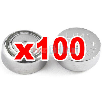 100 Batteries button alkaline 1,5 V LR41 AG3 LR736 392 LR192 x watch tt