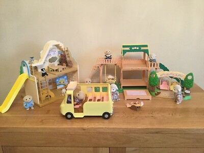Sylvanian Families House And Stables Bundle With Figures