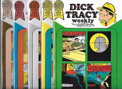 Dick Tracy Weekly Lot Of 5 - #31 #32 #33 #34 #35 (Nm-) Blackthorne Publishing
