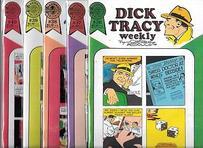 Dick Tracy Weekly Lot Of 5 - #36 #37 #38 #39 #40 (Nm-) Blackthorne Publishing