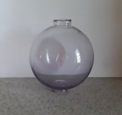Sun Colored Amethyst Glass Lightning Rod Ball Roof Home Cabin Decor