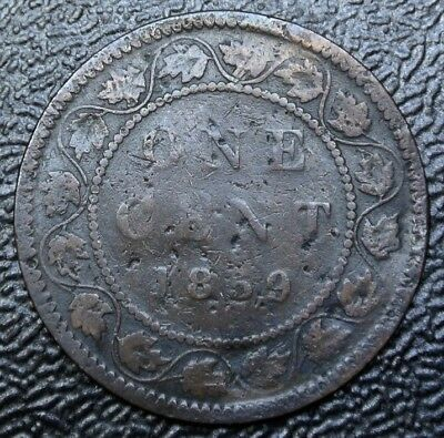 OLD CANADIAN COIN 1859 - ONE CENT LARGE CENT - Victoria