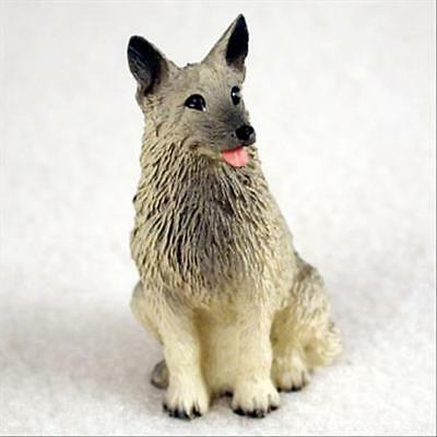 Norwegian Elkhound Dog Tiny One Miniature Small Hand Painted Figurine