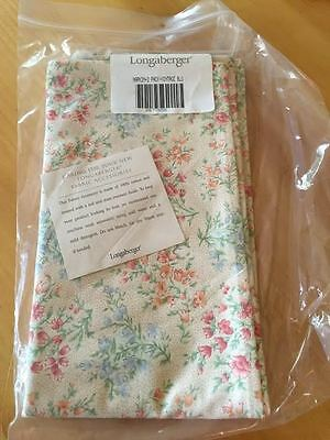 "Longaberger Vintage Blossoms 20"" Square Napkins, Set of 2,  New In Package"