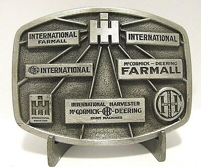 IH International Harvester McCormick Deering Farmall Pewter Belt Buckle 156/750