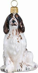 Irish Red and White Setter Handblown Glass Christmas Ornament LAST ONE!