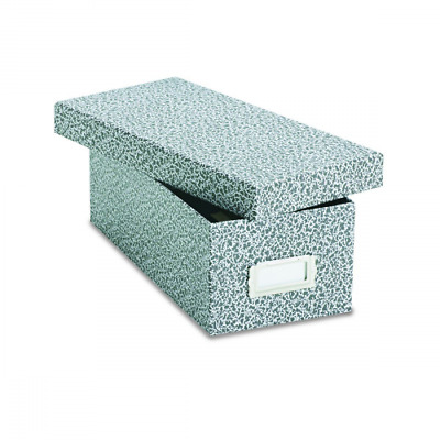 """Oxford Reinforced Board 3"""" x 5"""" Index Card Storage Box with Lift-Off Cover 40588"""