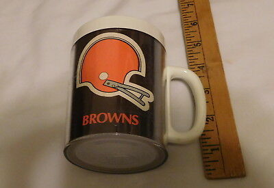 vintage Cleveland Browns NFL Football Thermo - Serv Coffee Cup
