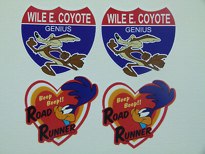 Oldschool 4er Set Roadrunner Muscle Car MOPAR Aufkleber Sticker Retro Coyote