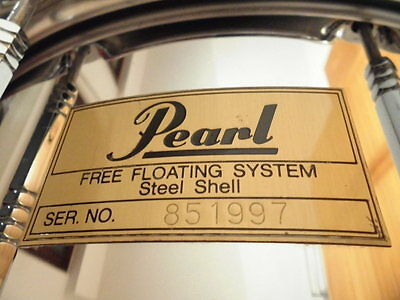 "PEARL  ""Free Floating""  Steel Snare 14"" x 6,5"""
