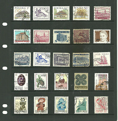 Europe Poland one stock sheet mix collection stamps