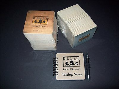 Lot of 170 Bell's Beer Coasters plus Tasting Notes Notebook NOS