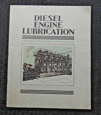"1934 Socony Vacuum Oil Co. ""diesel Engine Lubrication"" Manual Color Plates Minty"