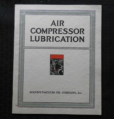"1935 Socony Vacuum Oil Co. ""air Compressor Lubrication"" Manual Color Plates Mint"