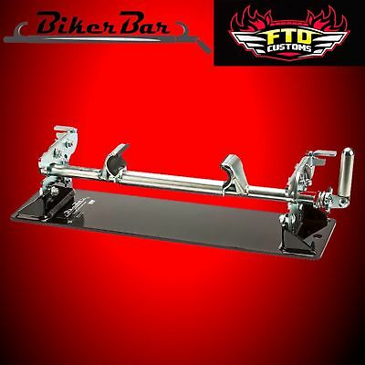 HD Touring Biker Bar Strapless Motorcycle Removable Clamp Bar MC2301