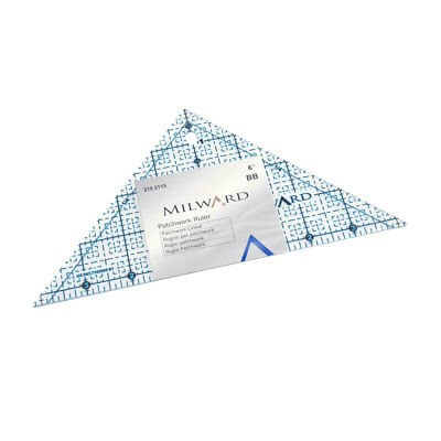 Milward 2152115 | Patchwork Rule | Imperial | 6in Half Square | 1 Piece