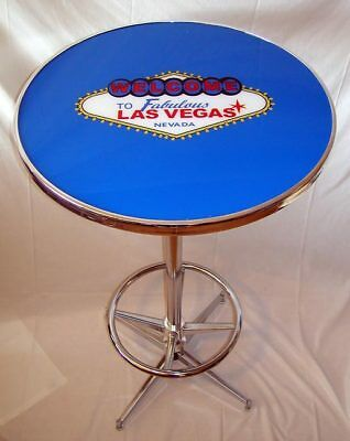 Welcome To Fabulous Las Vegas Blue Pub Table Brand New!