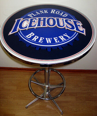 Icehouse Plank Road Brewery Beer Sign Logo Pub Table