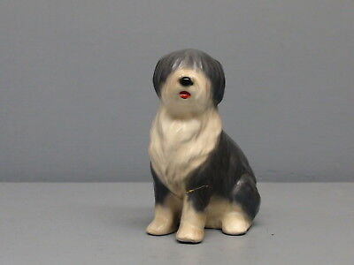 HTF San Dimas Hagen Renaker DW Old English Sheepdog Mops Repaired Leg