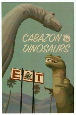Cabazon Dinosaurs Roadside Attraction California Route 66, EAT - Modern Postcard