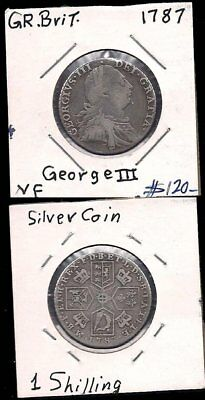 Uk - 1 Shilling 1787 - George Iii - Silver