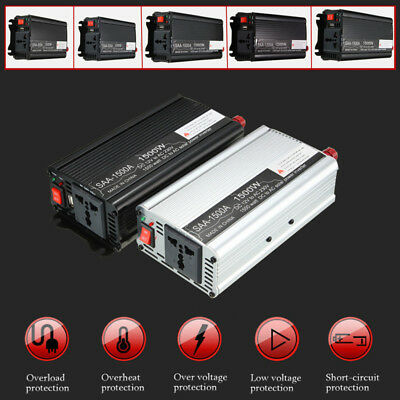 300W-1500W 12V To 110V/220V AC Solar Power Inverter Modified Sine Wave Converter