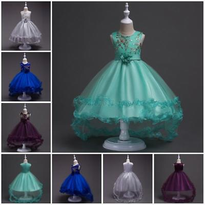 Girls Flower Dress Wedding Bridesmaid Formal Graduation Birthday Princess Dress