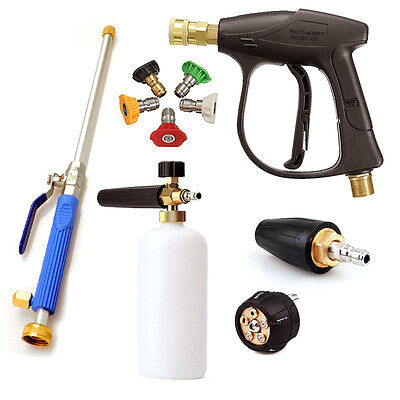 High Pressure Washer Wand Gun Turbo Spray Nozzle Hose For Car Garden Cleaning US