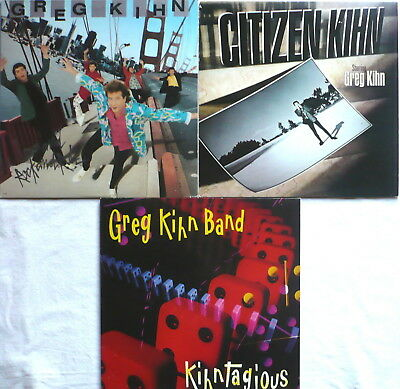 GREG KIHN - SAMMLUNG - 3 LPs > Kihntagious; Citizen Kihn; Love and Rock and Roll