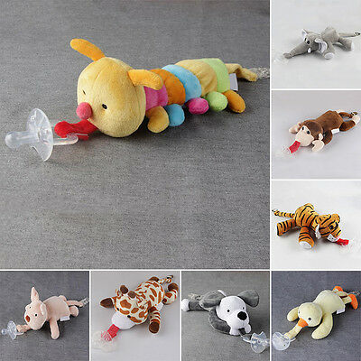 1PC Animal Infant Baby Silicone Cotton Soothie Pacifier Dummie Wubbanub Doll New
