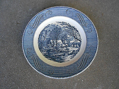Royal China Jeannette Currier and Ives DINNER PLATE   USA