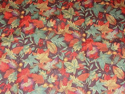 "Longaberger FALLING LEAVES Fabric  36"" Table SQUARE NWOB"