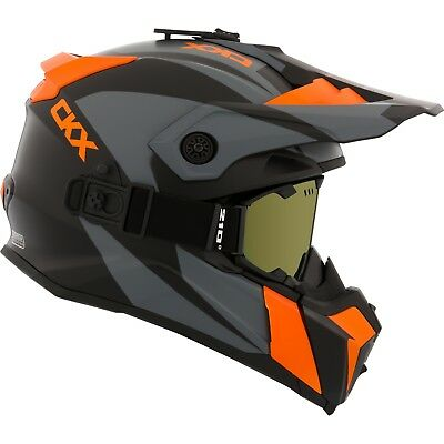 CKX - Titan Sidehill Mat Orange Modular Snow Helmet - Medium